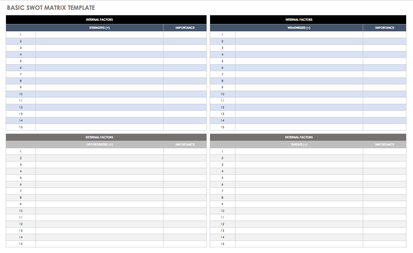 Swot analysis clipart free black and white free download 14 Free SWOT Analysis Templates | Smartsheet free download