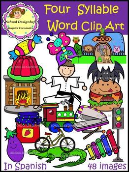 Syllable clipart jpg royalty free library Palabras de Cuatro Sílabas-ClipArt /Four Syllable Word ClipArt(School  Designhcf) jpg royalty free library