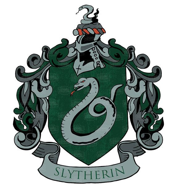 Syltherin clipart transparent library Harry Potter Slytherin House Crest Clipart by ... transparent library