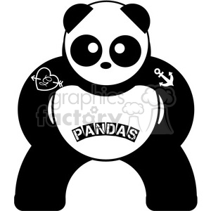 Symmetrical clipart banner stock panda symmetrical bear with tattoos clipart. Royalty-free clipart # 398097 banner stock