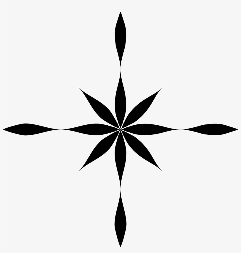 Symmetrical clipart black and white download Abstract Clipart Symmetrical Flower - Flower Star Icon ... black and white download