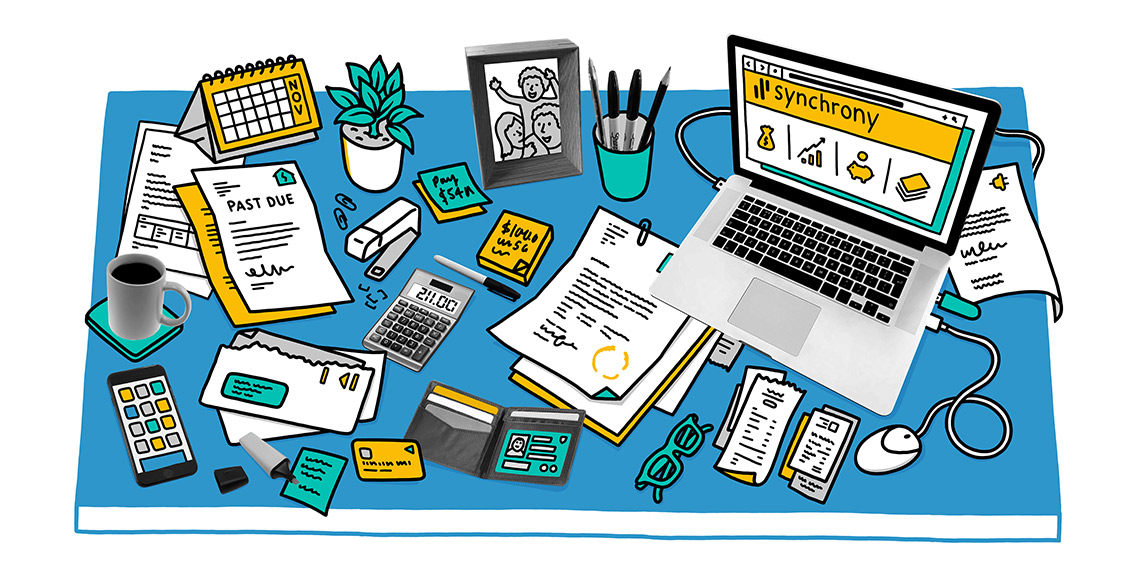 Synchrony financial clipart svg library How to Declutter Your Financial Life | Synchrony Bank svg library