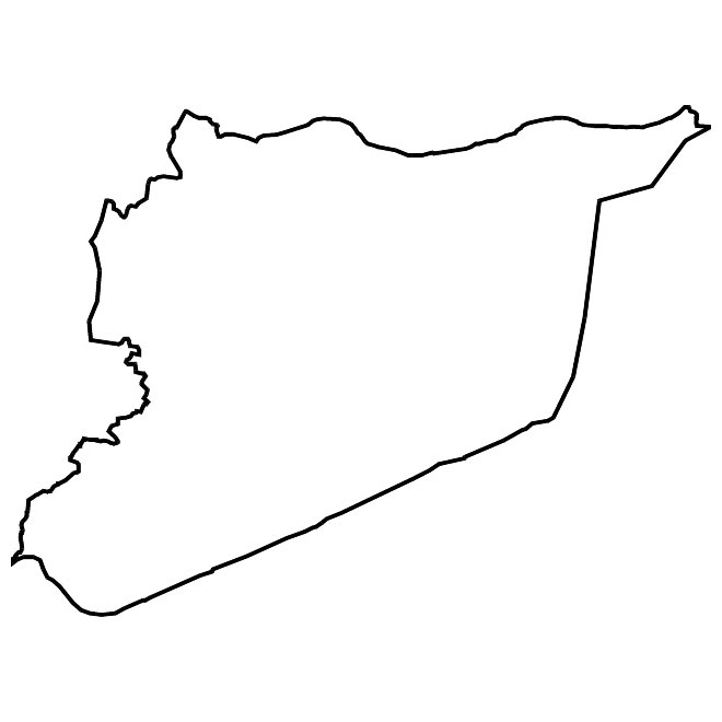 Syria map clipart