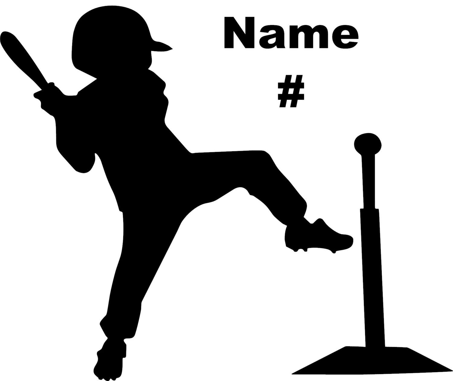 T ball clipart clip library stock Personalized Baseball Decal Little League T - ball Boy- Made ... clip library stock