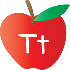 T clipart clip freeuse Alphabet Clipart Image - An Apple With The Letter T Written On It clip freeuse