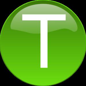 T clipart transparent stock Green T Clip Art at Clker.com - vector clip art online, royalty ... transparent stock