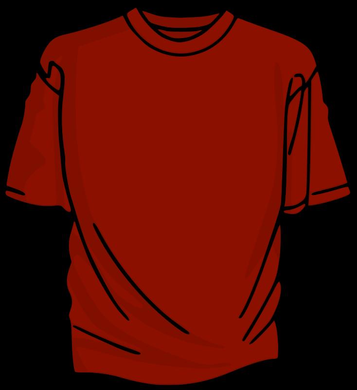 Free Clipart: Red T-Shirt | kuba graphic black and white