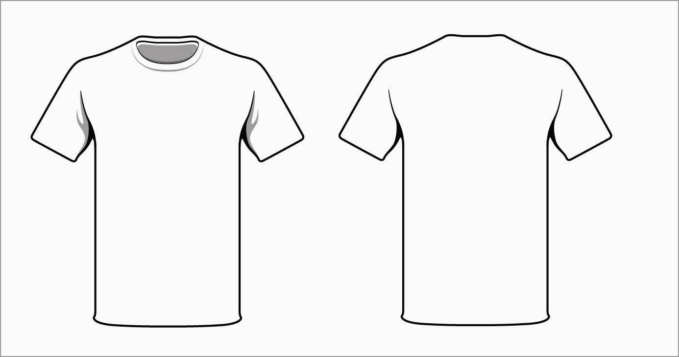 T shirt mockup clipart clip art transparent stock Free T Shirt Template Coreldraw   Azərbaycan Dillər Universiteti clip art transparent stock