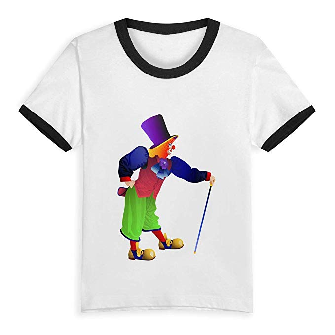 T shirt sleeve clipart vector library download Amazon.com: Clown Transparent PNG Clip Art Kids Short Sleeve ... vector library download