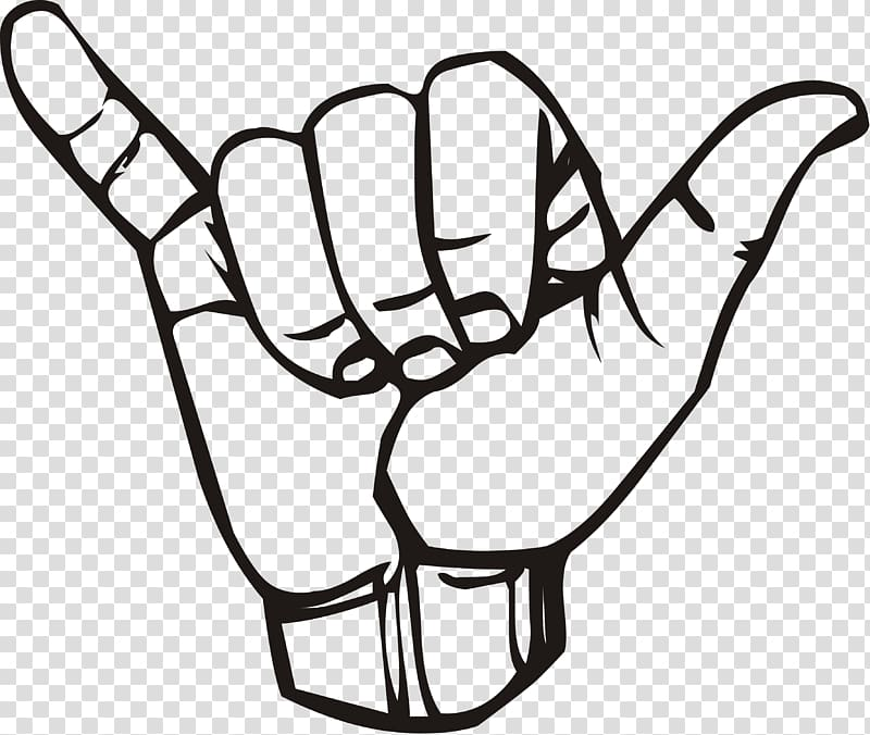 T shirt sticker clipart graphic free Hand sign illustration, T-shirt Shaka sign Sign language ... graphic free