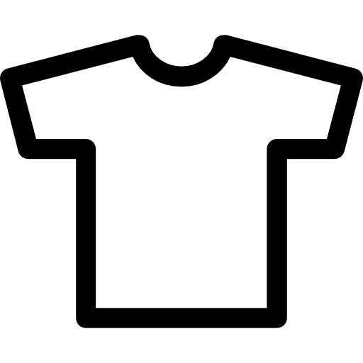 T shirt text clipart clip library T-shirt outline Icons | Free Download clip library