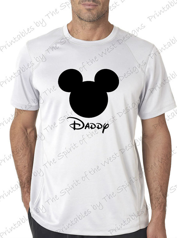 T shirt transfer clipart png freeuse download Mickey mouse head Daddy IMAGE Use as Iron on or Clip art Mouse ... png freeuse download