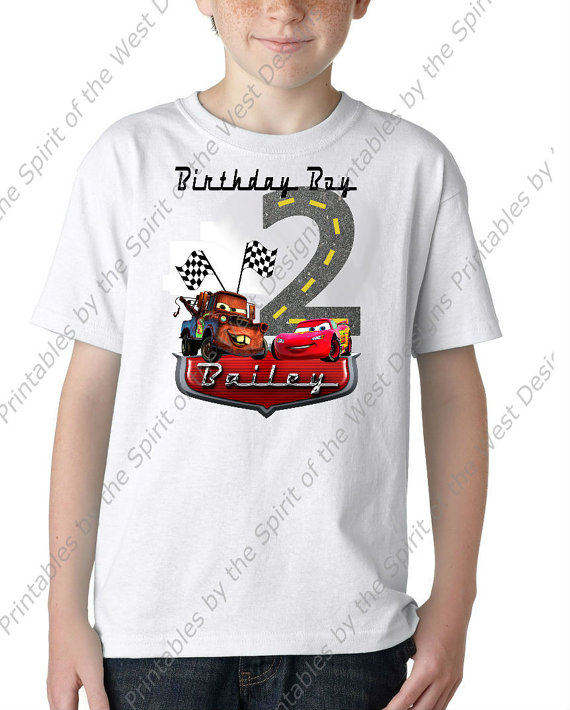 T shirt transfer clipart graphic download Personalized Second Birthday Boy Iron On Lightning McQueen Mater ... graphic download