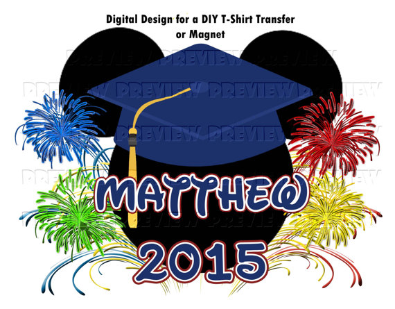 T shirt transfer clipart clipart transparent Printable Disney Graduation Mouse Head T-Shirt Transfer or Magnet ... clipart transparent