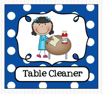 Table helper clipart picture black and white library Editable Classroom Jobs Helpers - Kids Bright Multicolored ... picture black and white library