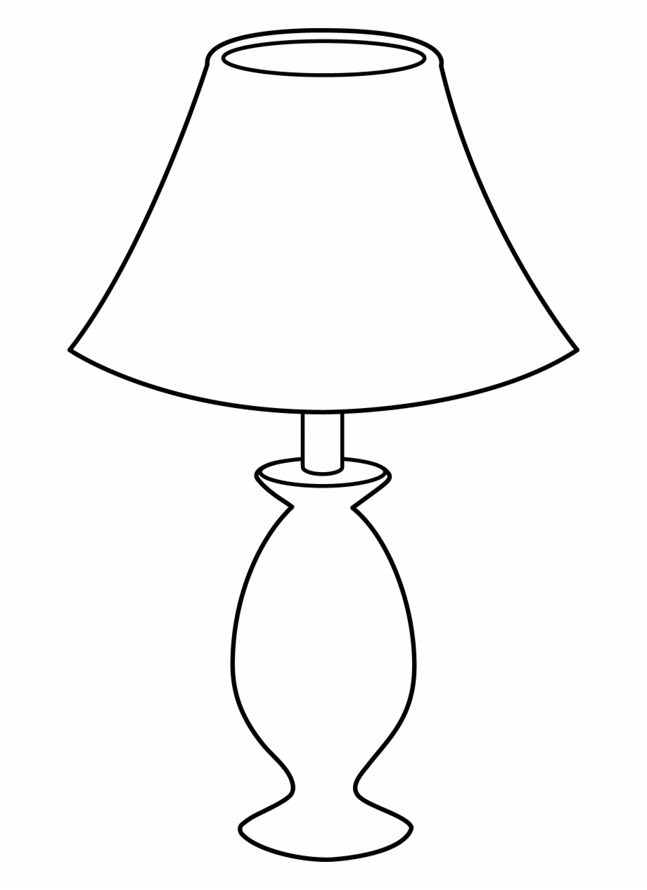 Table lamp clipart black and white png transparent Lamp Clipart Table Pencil And In Color Lamps At Lowes - Lamp ... png transparent