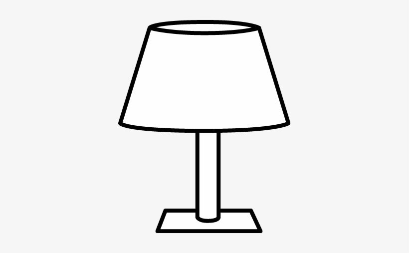 Table lamp clipart black and white transparent library Lamp Clipart Floor Lamp - Table Lamp Black And White - Free ... transparent library