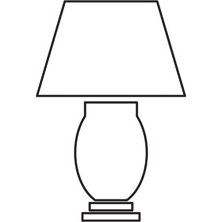White lamp clipart svg freeuse Table lamp clipart black and white » Clipart Portal svg freeuse