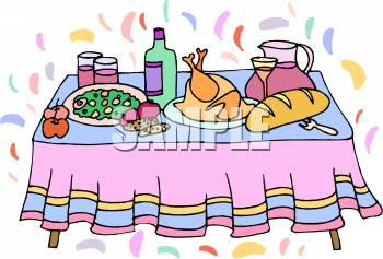 Table of food clipart breakfast picture royalty free Dining Table With Food Clipart - Free Clipart picture royalty free