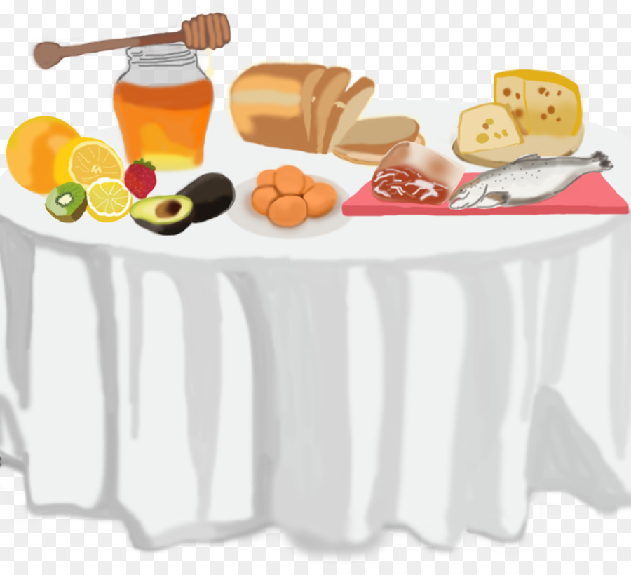 Table of food clipart breakfast black and white Junk Food Cartoon clipart - Yellow, Table, Food, transparent ... black and white