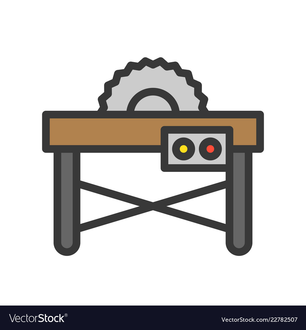 Table saw clipart free vector royalty free library Table saw filled outline icon carpenter and vector royalty free library