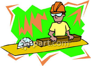 Table saw clipart free vector stock A Man Using a Table Saw - Royalty Free Clipart Picture vector stock