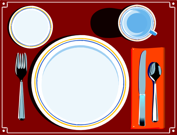 Table setting large clipart image royalty free Place Setting Clip Art at Clker.com - vector clip art online ... image royalty free