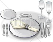 Table setting large clipart vector black and white stock Formal Table Setting Clipart Fine Dining Clipart, Formal ... vector black and white stock