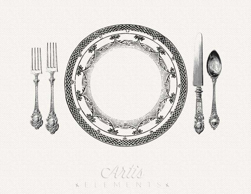 Table setting large clipart clipart freeuse Download dinner with dickens by pen vogler clipart Table ... clipart freeuse