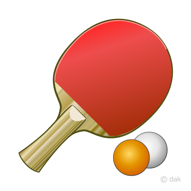 Table tennis images clipart clipart transparent Table Tennis Racket and Ball Clipart Free Picture Illustoon clipart transparent