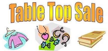 Table top sale clipart picture black and white stock Holy Trinity Parish Church picture black and white stock