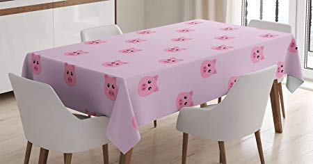Tablecloth prints clipart picture freeuse BMALL Cotton Linen Tablecloth Pig Avatar Kid-Friendly Clip ... picture freeuse