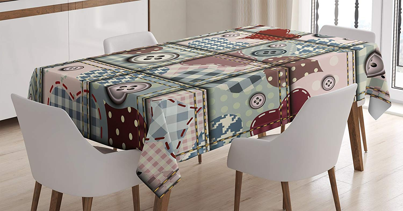 Tablecloth prints clipart graphic free download Amazon.com: Ambesonne Farmhouse Decor Tablecloth, Cute Clip ... graphic free download