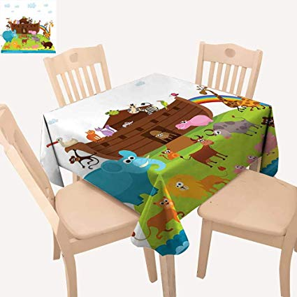 Tablecloth prints clipart image free stock Amazon.com: haommhome Cartoon Christmas Tablecloth Various ... image free stock