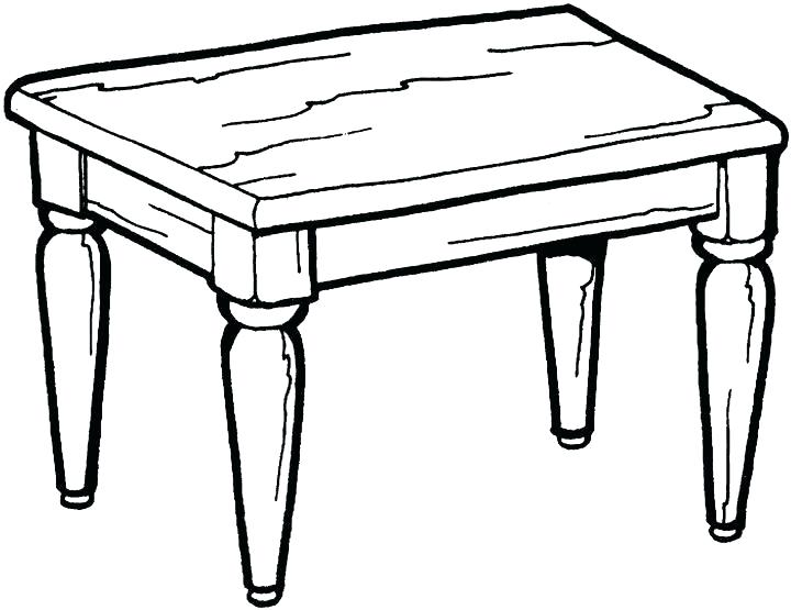 Tables clipart black and white banner black and white stock Clipart black and white table 2 » Clipart Station banner black and white stock