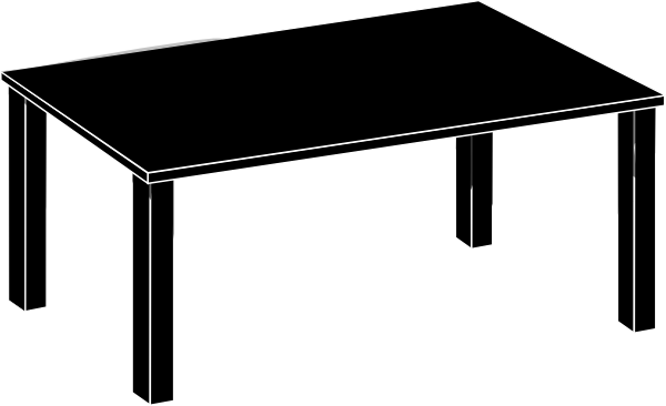 Tables clipart black and white svg library library 15 Black Vector Tables Images - Table Clip Art Black and ... svg library library