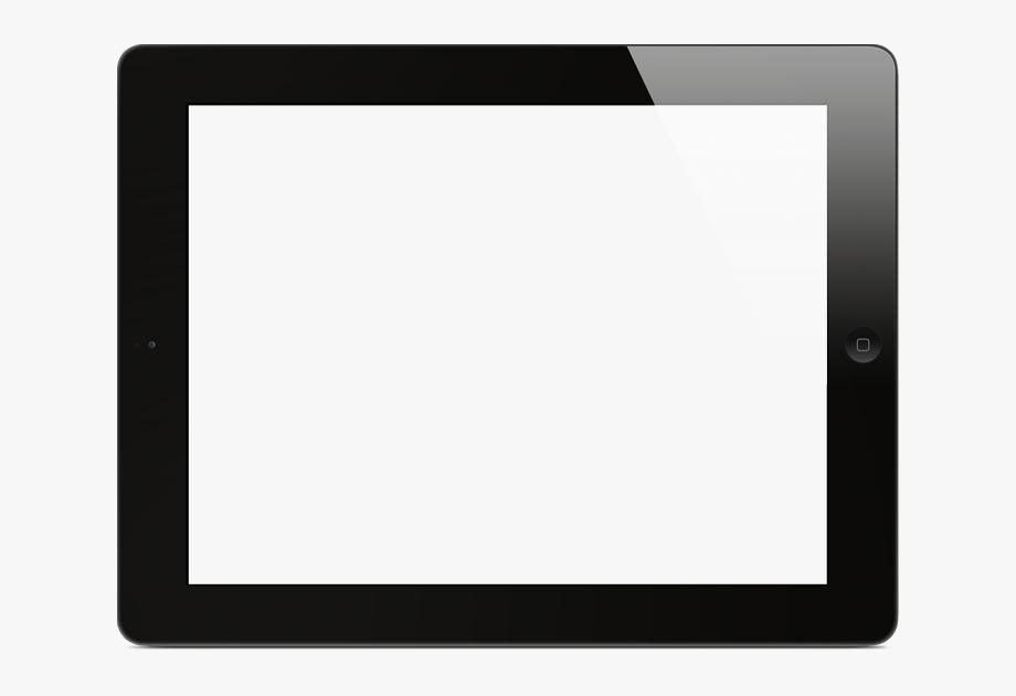 Tablet clipart white outline jpg stock Blank Tablet Png - Tablet Frame For Presentation #1945877 ... jpg stock