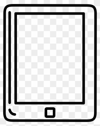 Tablet clipart white outline graphic black and white download Image Free Stock Tablet Outline Svg Png Icon Free Download ... graphic black and white download