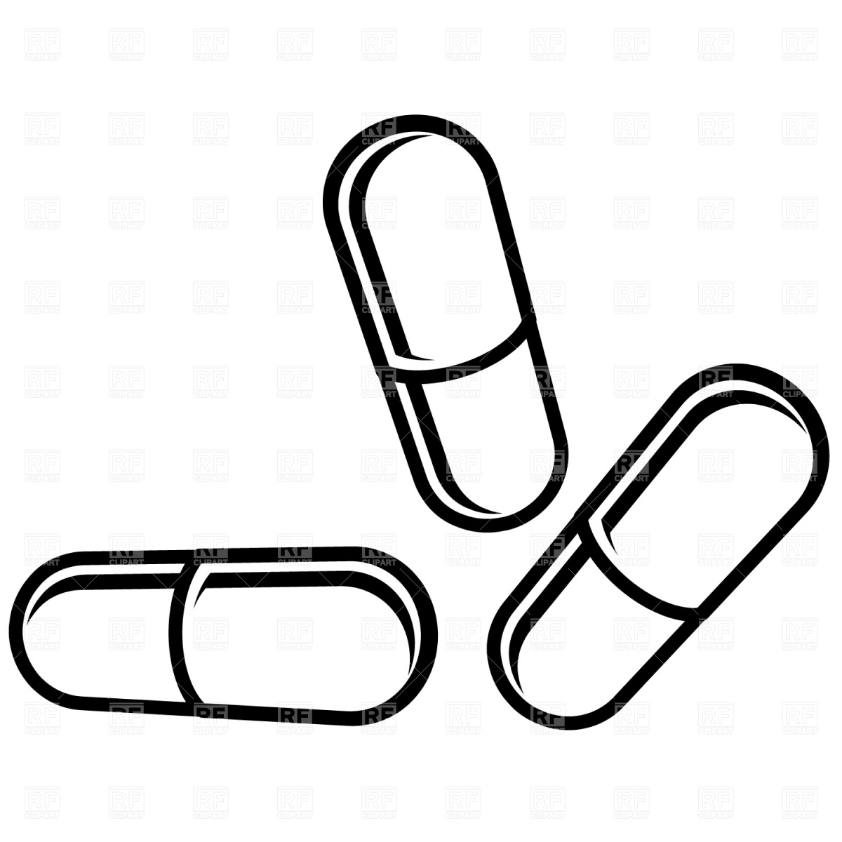 Tablet clipart white outline vector freeuse library 81+ Pill Clipart | ClipartLook vector freeuse library