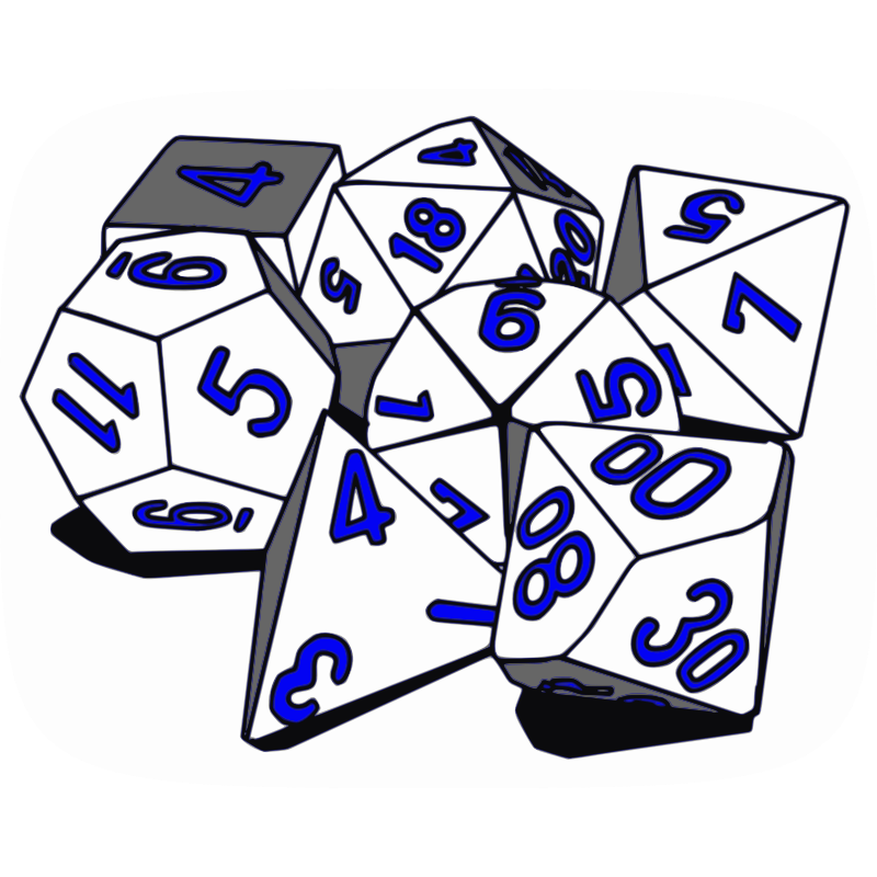 Tabletop rpg clipart vector black and white Clipart - Tabletop RPG Dice Set II - Cliparts.co vector black and white