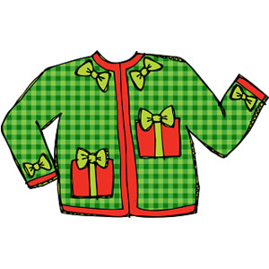 Tacky christmas costumes clipart free stock Free Ugly Sweater Clipart | Free download best Free Ugly ... free stock