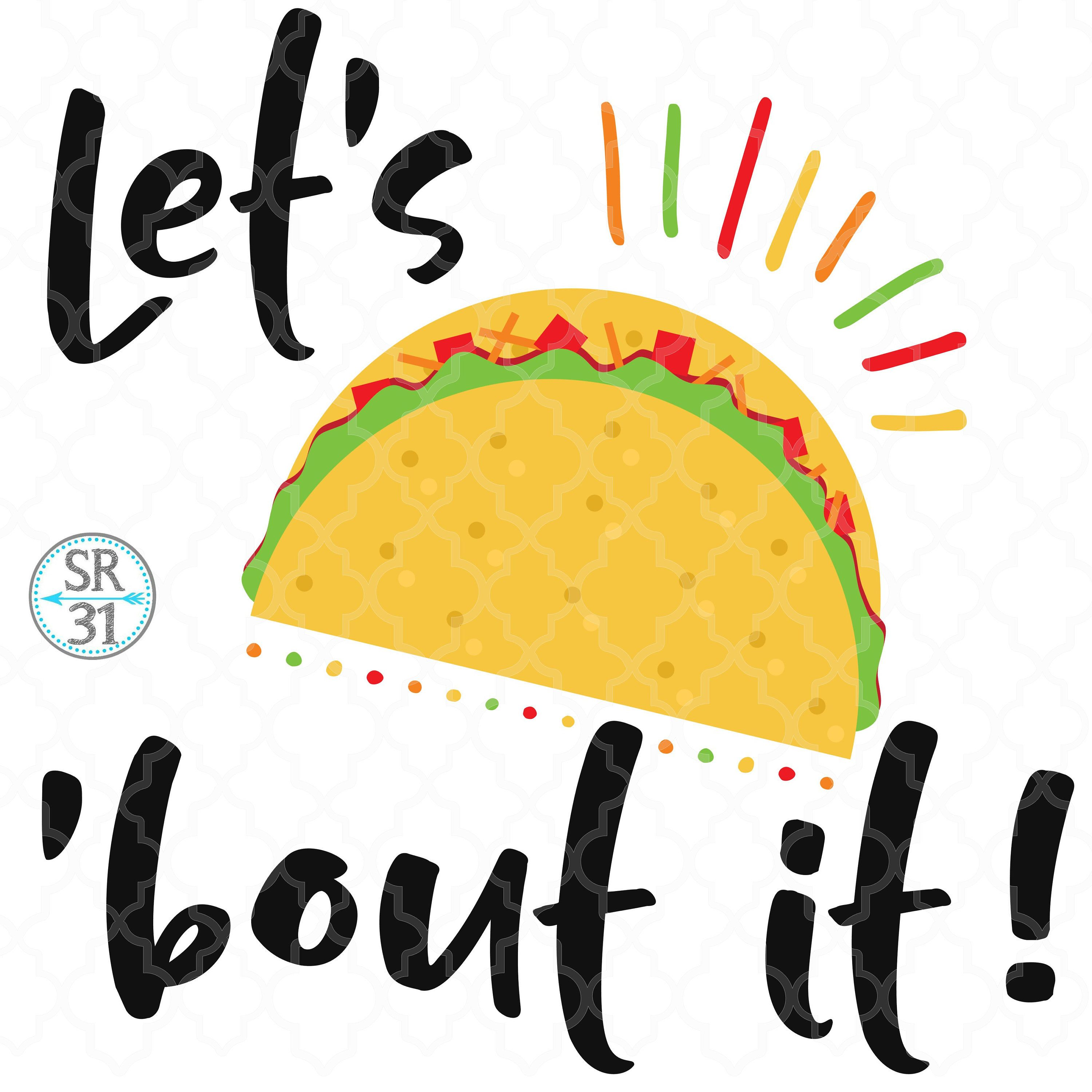 Taco above a hand clipart