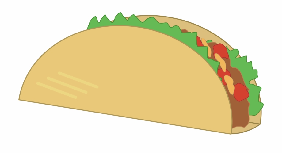 Taco above a hand clipart banner free library This Free Icons Png Design Of Simple Taco - Mexican Food ... banner free library