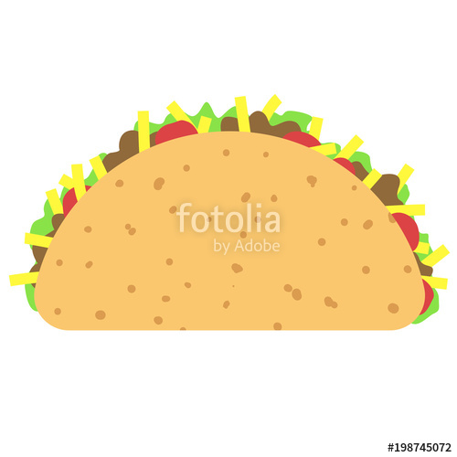 Taco clipart images picture stock Taco clipart isolated on white background\