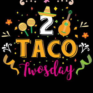 Taco twosday clipart picture black and white Tacos 2 Taco Twosday Birthday Gift Digital Art by Haselshirt picture black and white