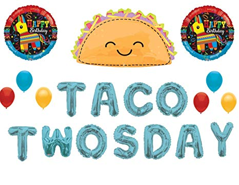 Taco twosday clipart vector download Amazon.com: Taco TwosDay 2nd Birthday Party Balloons ... vector download