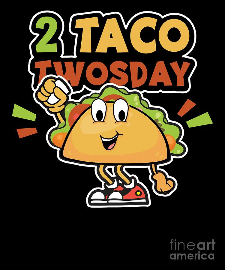 Taco twosday clipart black and white library Tacos 2 Taco Twosday Birthday Gift black and white library