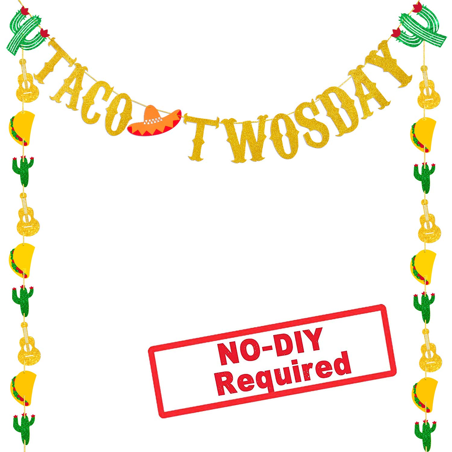 Taco twosday clipart svg Glitter Taco Twosday Banner Mexican Fiesta Party Banner Decoration For Baby  Shower Bridal Shower Birthday Party Decorations Supplies svg