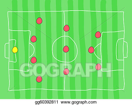 Tactics clipart clip freeuse stock Vector Stock - Soccer tactics. Clipart Illustration ... clip freeuse stock