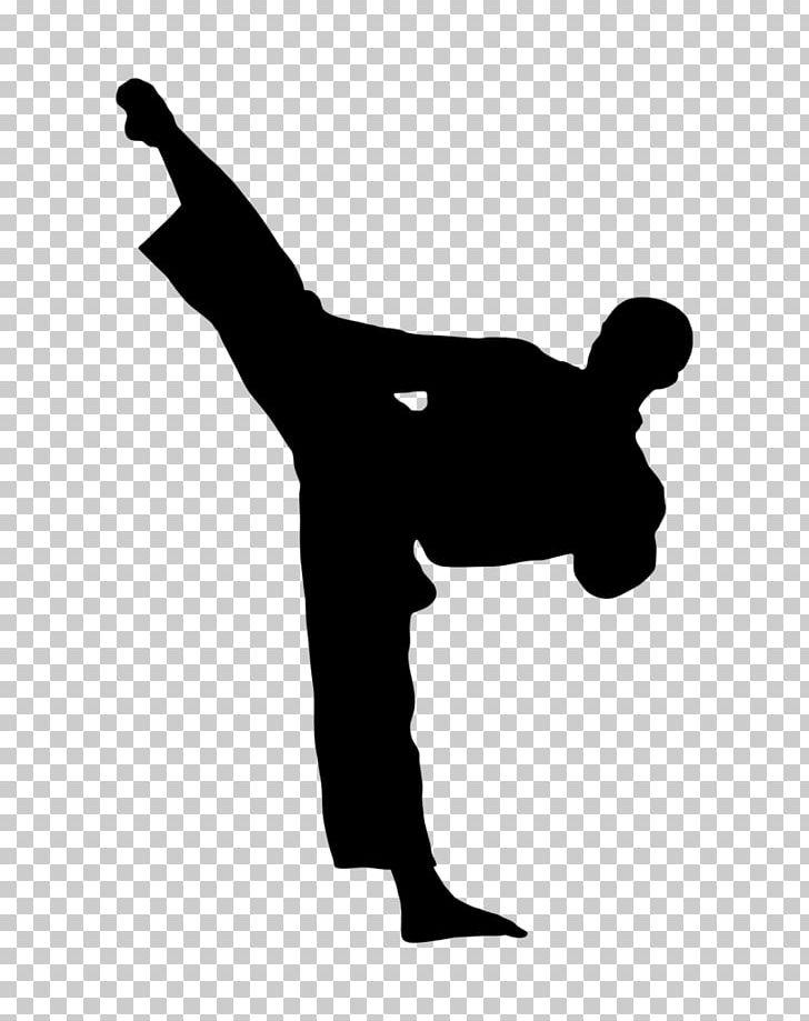 Tae kwon do clipart svg black and white download Kick Karate Martial Arts Taekwondo PNG, Clipart, Arm, Black ... svg black and white download